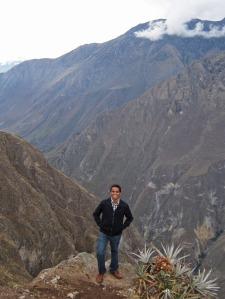 At the Cruz del Condor viewpoint